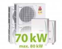 MC.70HZ PACK9 KASZKÁD hűtő-fűtő rendszer